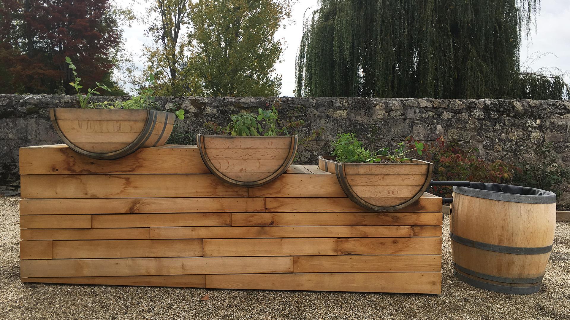 Module de culture aquaponique au Château de la Dauphine