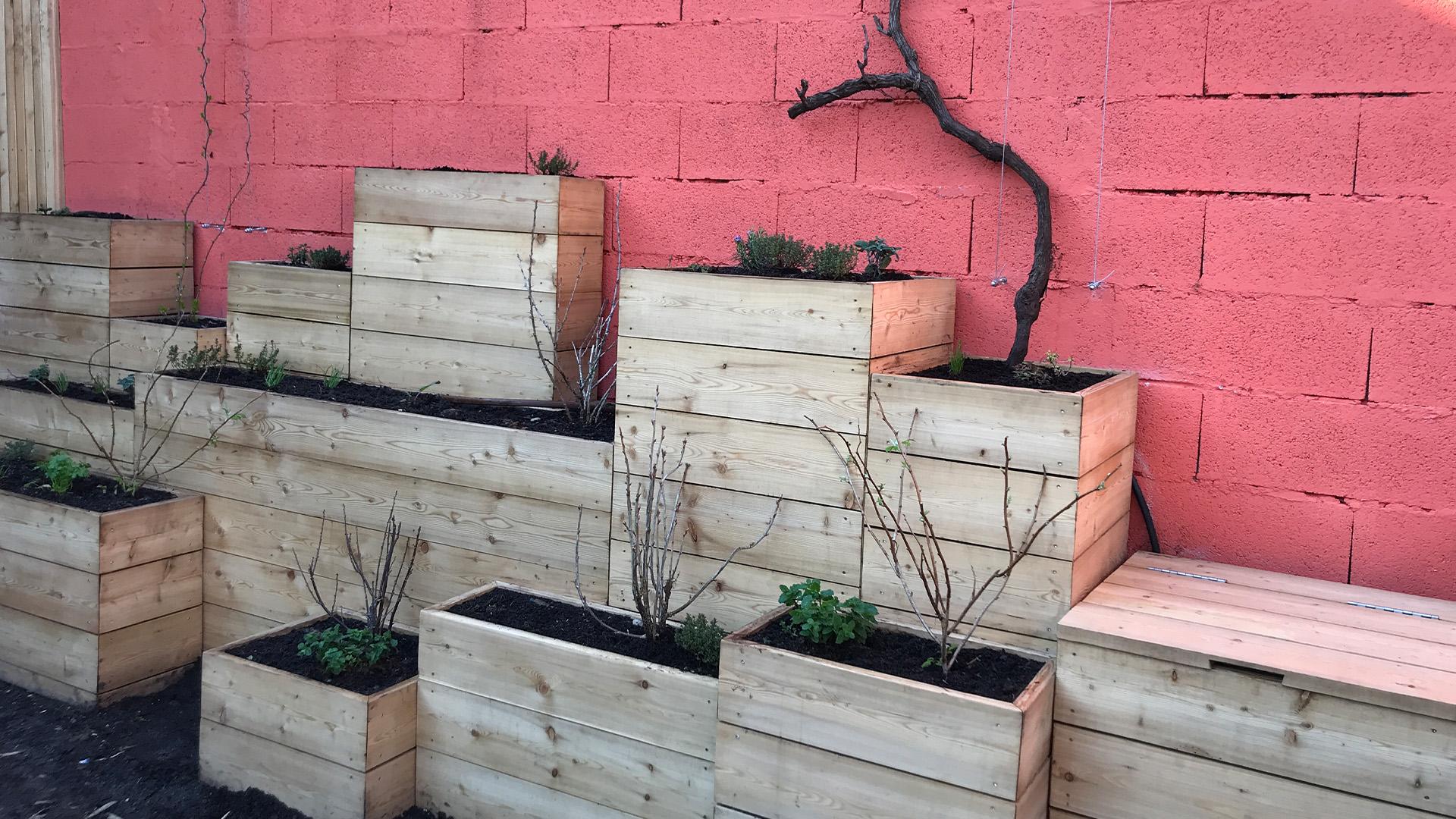 Création d'un mur comestible pour un jardin privé à Bordeaux